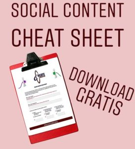 Download Gratis: Social Content Cheat Sheet